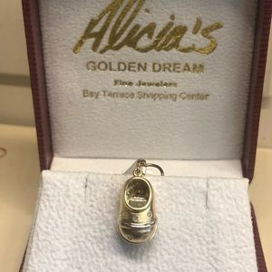 Jewelry - Baby Shoe Pendant 14k Gold and Diamonds